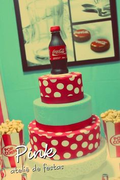 Cake at a Coca Cola Party #cocacola #partycake