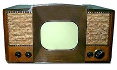 TV production and development was halted during World War II. This 1946 RCA model is the first set designed and marketed on the postwar market. Once again, it is more like the TV of today than previous models. This was the first model to feature a multi-channel tuner. However, it was also one of the last to feature a 13-channel tuner that included channel 1. After 1947, TV models only had 12 channels- numbers 2 through 13.