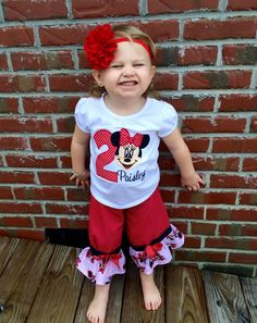 Minnie Mouse Birthday Outfit, Disney  World outfit.... by Mimimadeitboutique on Etsy https://www.etsy.com/listing/203208966/minnie-mouse-birthday-outfit-disney