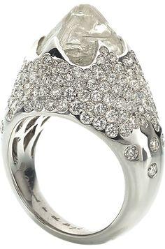 Iceberg Rough Diamond Ring
