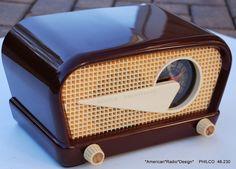 American Radio Design - Greg Mercurio - Deco-Mid Century & Retro Styled… Lps, Radio Design, Retro Appliances, Retro Radios, Antique Radio, Record Players, Vintage Cameras, Old Tv, Vintage Wood