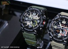 New G-Shock GG-1000-1A3, which features an army green urethane band .
