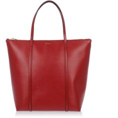 Dolce & Gabbana Embossed Leather Shopping Bag ($630) ❤ liked on Polyvore featuring bags, handbags, shoulder bags, red, red purse, leather tote shopper, red leather shoulder bag, red leather purse and leather purses