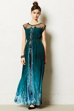 Icefall Maxi Dress #anthropologie If you want to be Elsa for Halloween, I'd say this is your best bet...