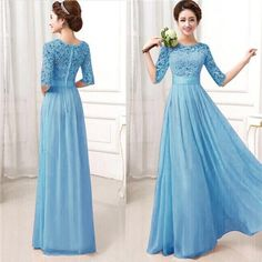 Womens Long Sexy Evening Party Ball Prom Gown Formal Bridesmaid Cocktail Dresses - Alternative Measures - Green / L - 7