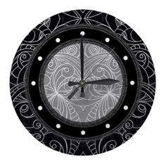 Wall Clock Drawing floral abstract  http://www.zazzle.com/wall_clock_drawing_floral_abstract-256215356289842394