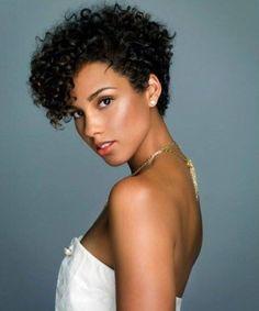 Alicia Keys Curly New Fade