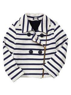 Striped knit moto jacket   Gap   for Eleanor
