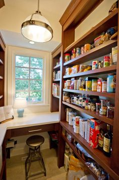 Are you in search of kitchen pantry shelving ideas? Then make sure to check out our collection of small pantry organization ideas! Kitchen Pantry Design, Kitchen Pantry Cabinets, Kitchen Storage, Kitchen Ideas, Kitchen Decor, Organized Kitchen, Kitchen Layouts, Kitchen Upgrades, Room Kitchen