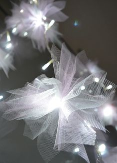 Tulle wrapped fairy lights? I think I'm in heaven!