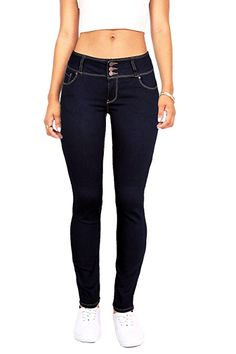 a7315b6f3fab3 Wax Women s Juniors Body Flattering Mid Rise Skinny Jeans  Amazon.com   Winter Outfits