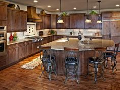 Let NJ Kitchen & Baths create a new space in your home! French Country Kitchen Cabinets: Pictures, Tips & Expert Ideas : Rooms : Home & Garden Television Country Kitchen Cabinets, Kitchen Island Decor, Kitchen Island With Seating, New Kitchen, Kitchen Ideas, Narrow Kitchen, Awesome Kitchen, Rustic Kitchen, Kitchen Trends
