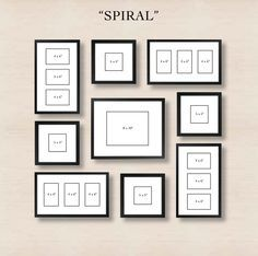 picture frames on wall layouts. spiral gallery wall layout tip start with placing the center frame and then picture frames on layouts m