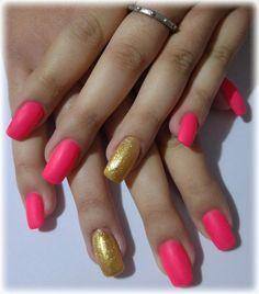 Fucsia fluo opaco oro puro dorato glitter