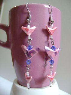 Wear your heart with pride by NightLightCrafts on Etsy, $18.00 #handmade #jewelry #earrings #valentine