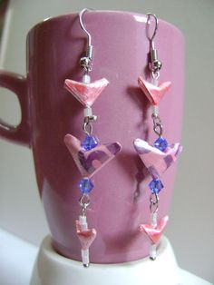 Wear your heart with pride by NightLightCrafts on Etsy, $18.00 #handmade #jewelry #earrings #valentine