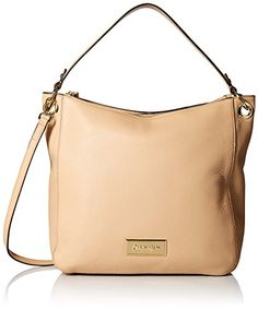 Calvin Klein Pebble-Leather Hobo Bag, Toast, One Size ** READ ADDIITONAL INFO @: http://www.passion-4fashion.com/handbags/calvin-klein-pebble-leather-hobo-bag-toast-one-size/