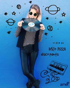 Discoteca  Na @loja_amei Disco Pants ⚫️ #lojaamei #calca #discopants #leeging #preta #hot