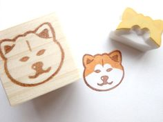 Japanese Akita inu Rubber stamp animal Dog by JapaneseRubberStamps