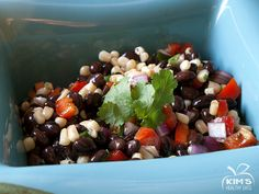 Another healthy alternative for any event. Black bean salsa is a great, low calorie finger food to snack on and if you're lucky enough to have any left over, it also makes a great topping for fish...