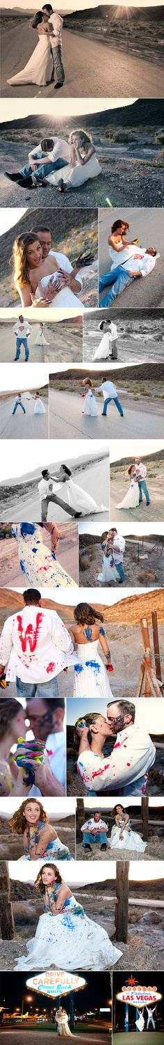 Superman/Paint Trash the Dress by Mike L Photography, Las Vegas, NV hahaha, that had to be so much fun!