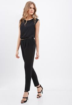 Chiffon Pleated Jumpsuit   Forever 21 Canada