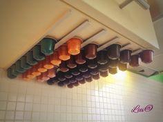 DIY storage organizers coffee nespresso capsule holder