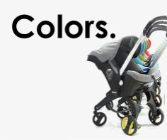 Want this! Infant carseat turned stroller - Genius! Many fun colors too!!!! Turquoise. Grey. Black. Beige. Red. Pink. Green.