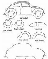 Felt Craft Templates - VW bug
