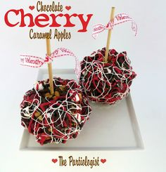 The Partiologist: Chocolate Cherry Caramel Apples!