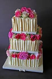 white choc and pink flowers
