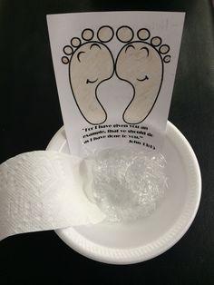 Jesus Washing Disciples Feet Craft