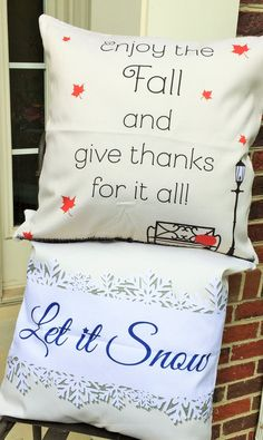 Thanksgiving pillow,Thanksgiving outdoor pillow,Thanksgiving gift,Fall outdoor pillow,Fall wreath,Fall decorations,Let it Snow,Snow gifts - pinned by pin4etsy.com