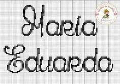 Image result for www.nome maria eduarda turma da monica em ponto cruz toalhinha de bebe