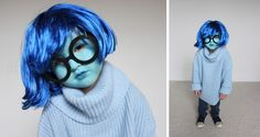Sadness From Inside Out | Last-Minute DIY Halloween Costume Ideas for Women, Kids + Couples