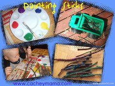 Cachey Mama's Classroom: Painting Sticks
