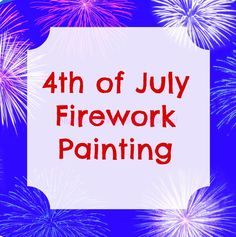 Patriotic Craft ~ 4th of July Fireworks Painting Holiday Side Dishes, Holiday Foods, Holiday Recipes, Patriotic Crafts, July Crafts, Kid Crafts, 4th Of July Fireworks, Fourth Of July, Firework Painting