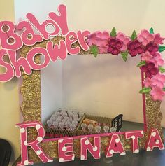 Baby shower niña marco para fotos