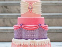 Salt Cake City made this princess cake for a photoshoot for a very special little girl. Was given free reign to make whatever pink and purple princess cake wanted. all MMF with a gumpaste and edible bead tiara on top. Pretty Cakes, Cute Cakes, Beautiful Cakes, Amazing Cakes, Girly Cakes, Fancy Cakes, Birthday Cake Girls, Princess Birthday, Princess Wedding