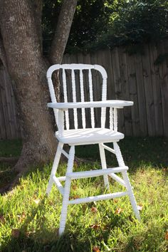 Vintage Wood Jenny Lind High Chair