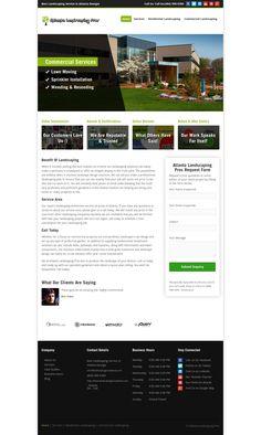 WordPress site landscapingprosatlanta.com uses the Local Business Theme wordpress theme
