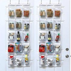 24 Pockets - SimpleHouseware Crystal Clear Over the Door Hanging Shoe Organizer (64'' x 19'')