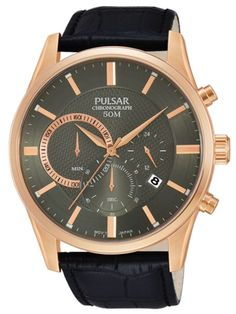 PULSAR Relógio BUSINESS | PT3732X1 Mens Dress Watches, Watches For Men, Chronograph, Jewelry Design, Gents Watches, Watches Online, Stuff To Buy, Omega Watch, Fashion