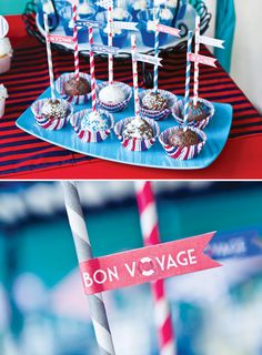 Bon Voyage cake pops food outdoors cake pops party ideas party food going away