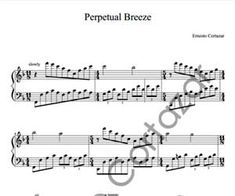 Perpetual Breeze - Piano Sheet Music now available on ErnestoCortazar.net