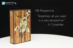 """NEW Houston Llew Spiritiles 186 Perspective, the story on the sides reads: """"Sometimes all you need is a new perspective."""" - H. Cooprider"""