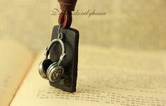 Graduation Headset Necklace Earphone Chain by dreamslovelyhouse, $8.99