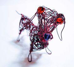 Custom Pet Portrait Dog, Beloved Dog Keepsake, Dog Ornament, Desk Decor, Home Decor, Metal Dog, Wire Animal Sculpture,Custom Gift by WireArtInk on Etsy