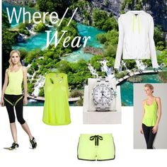 Cancun wear-You'll never have to twist our arm to wear neon, but while hiking it serves a dual safety purpose. We're all for anything that's simultaneously safe and chic. These options for hiking outfits are comfortable, practical, and will keep us cool & dry. While we're combining fashion with function, we'll cap off our outfit with a timepiece perfectly suited for this trip.