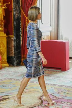 Queen Letizia of Spain attends a lunch in honour of Egyptian President Abdel Fattah al-Sisi at the Royal Palace on April 30, 2015 in Madrid, Spain.